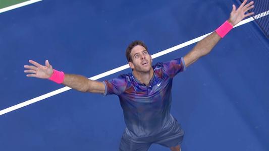 play video Del Potro vs. Federer