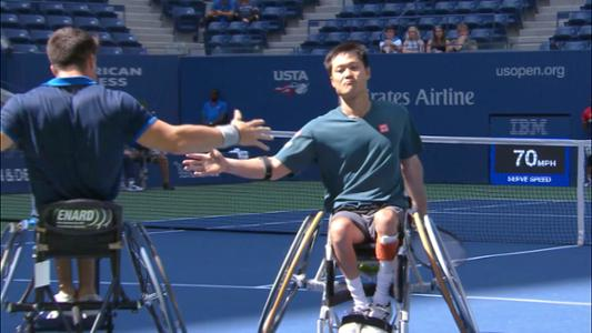 play video US Open Wheelchairs on Ashe
