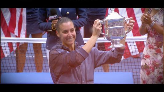 play video 50 for 50: Flavia Pennetta, 2015 women's singles champion