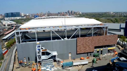 play video In 60 Seconds: The building of the new Louis Armstrong Stadium