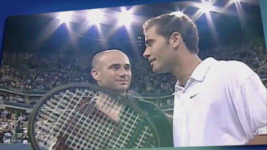 play video 50 Moments That Mattered: Sampras, Agassi battle in all-time classic match