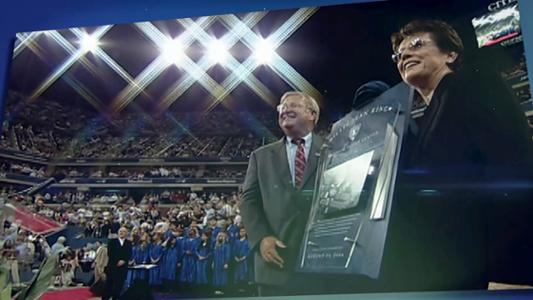 play video 50 Moments That Mattered: Tennis Center renamed for Billie Jean King