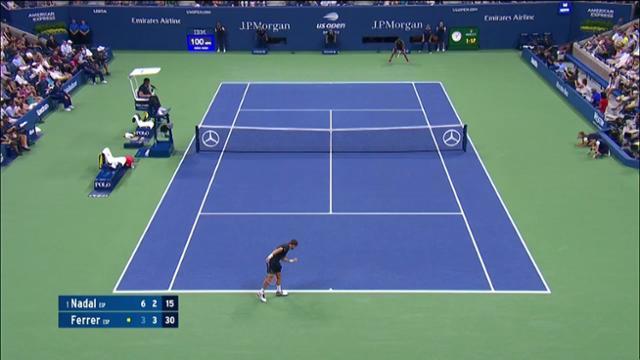 play video AI Match Highlight: Nadal vs. Ferrer - Round 1