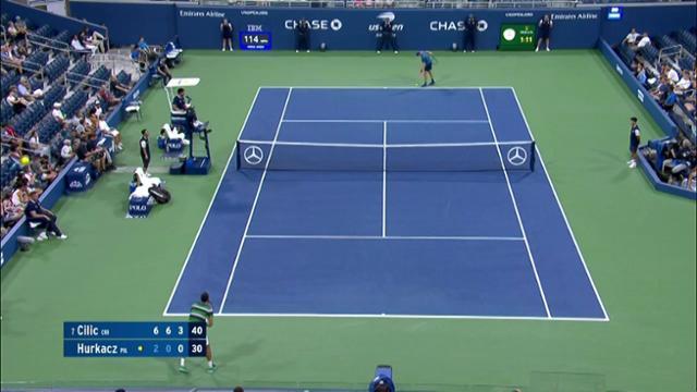 play video AI Match Highlight: Cilic vs. Hurkacz - Round 2