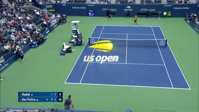 play video AI Match Highlight: Nadal vs. Del Potro - SF