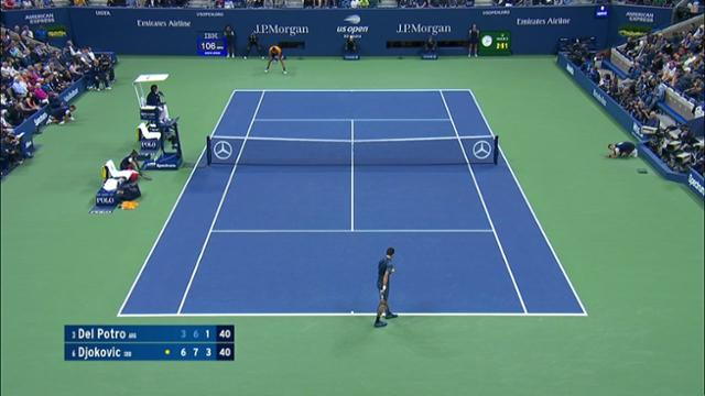 play video AI Match Highlight: Del Potro vs. Djokovic - Final