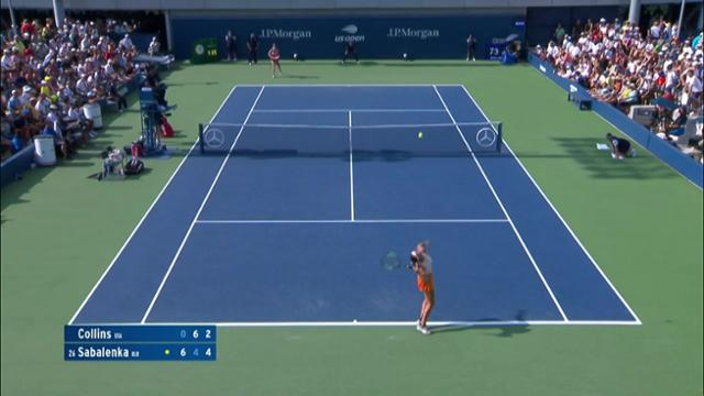 play video AI Match Highlight: Collins vs. Sabalenka - Round 1