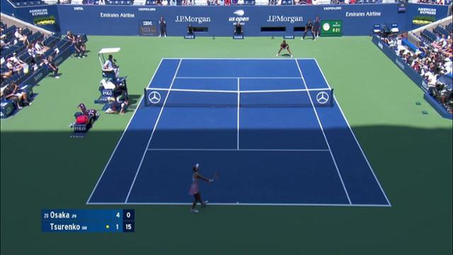 play video AI Match Highlight: Osaka vs. Tsurenko - QF
