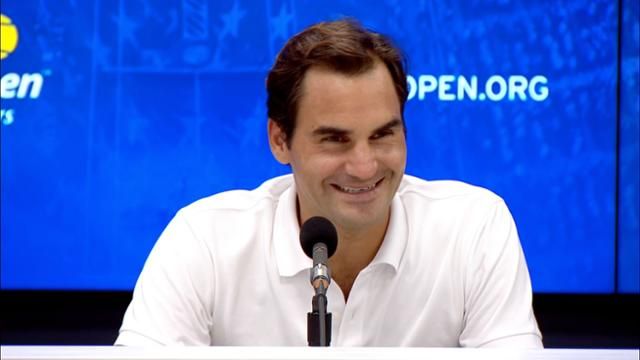 play video Press Conference: Roger Federer, Round 1