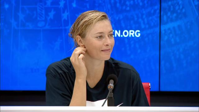 play video Press Conference: Maria Sharapova, Round 1