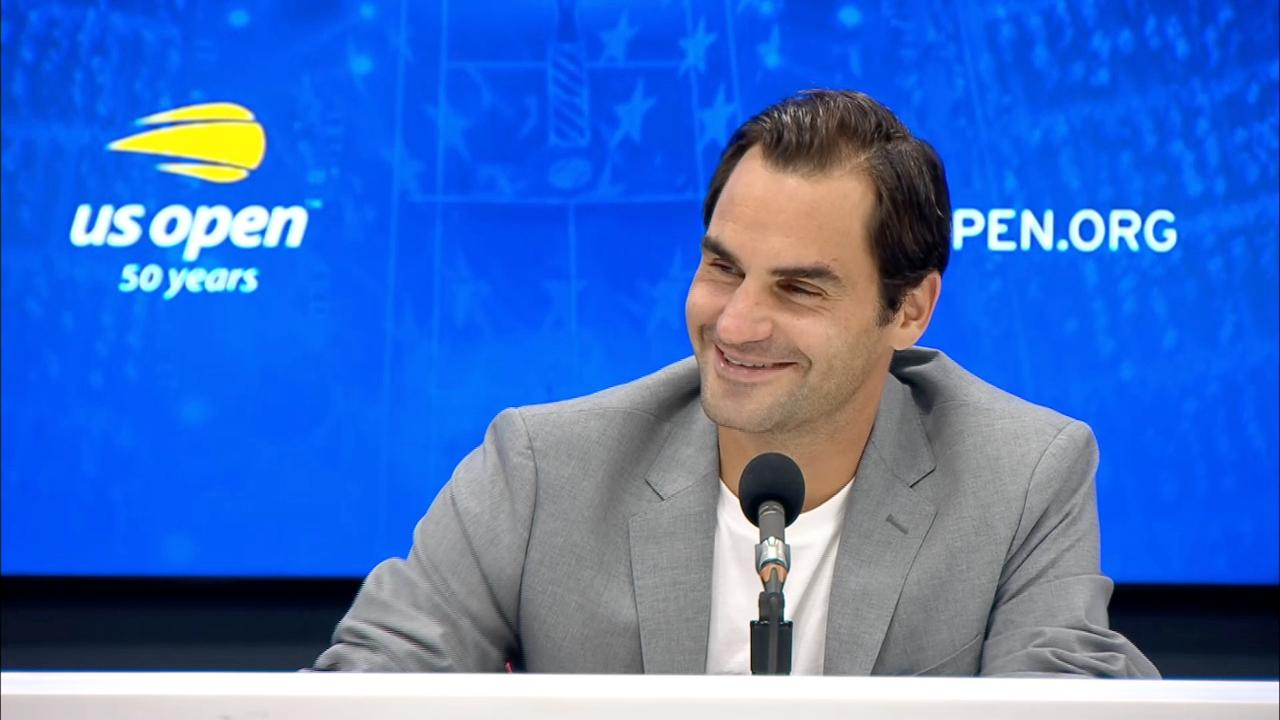 play video Press Conference: Roger Federer, Round 2