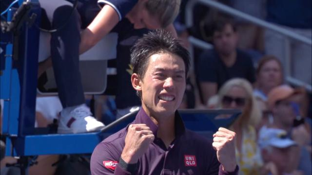 play video Highlights: Kei Nishikori vs. Philipp Kohlschreiber - Round 4