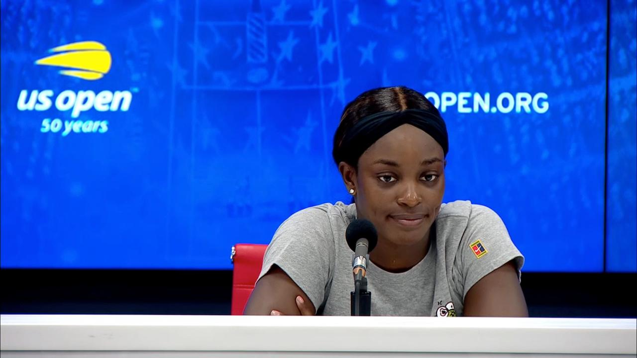 play video Press Conference: Sloane Stephens, Quarterfinals