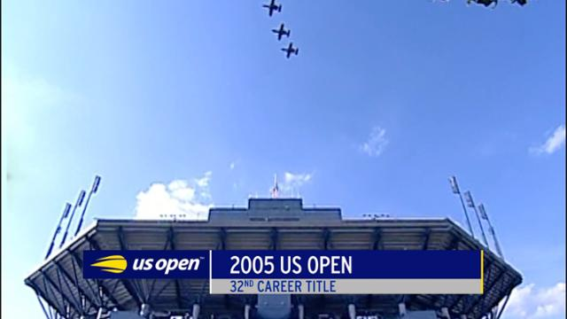play video Celebrating 100: Federer wins second US Open title in 2005