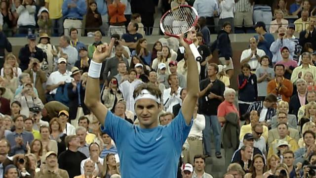 play video Celebrating 100: Federer wins third US Open title in 2006